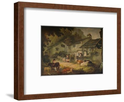 Cottage Scenery with Cattle, at Ambleside, 1803-Julius Caesar Ibbetson-Framed Art Print