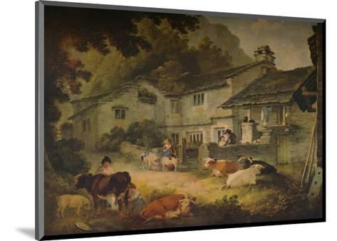 Cottage Scenery with Cattle, at Ambleside, 1803-Julius Caesar Ibbetson-Mounted Giclee Print
