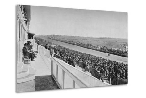 The Derby: View Down The Course, c1903, (1903)-WA Rouch-Metal Print
