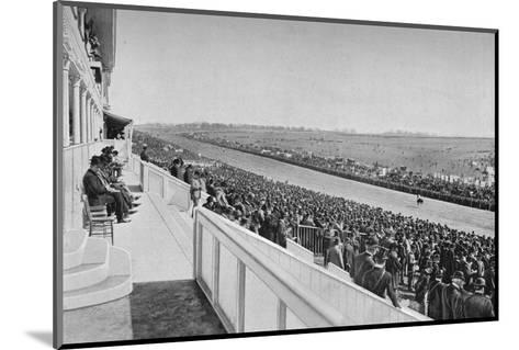 The Derby: View Down The Course, c1903, (1903)-WA Rouch-Mounted Photographic Print