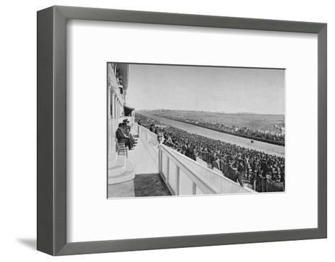 The Derby: View Down The Course, c1903, (1903)-WA Rouch-Framed Art Print