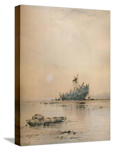 Low tide at Leigh, c1899-Albert Ernest Markes-Stretched Canvas Print