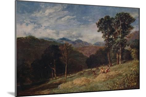 Haymaking, near Conway, c1852-David Cox the elder-Mounted Giclee Print