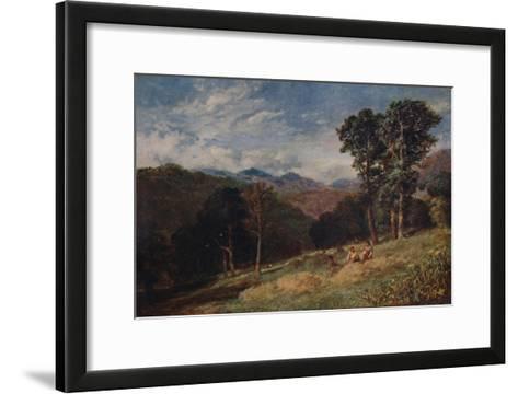 Haymaking, near Conway, c1852-David Cox the elder-Framed Art Print