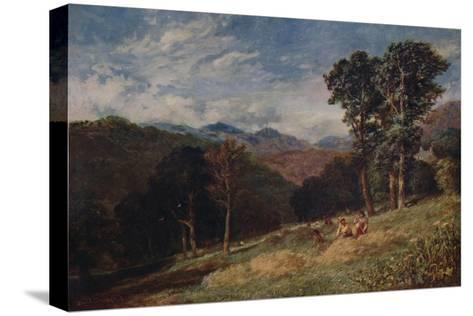 Haymaking, near Conway, c1852-David Cox the elder-Stretched Canvas Print
