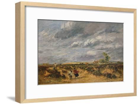 Flying the Kite, A Windy Day, 1851-David Cox the elder-Framed Art Print