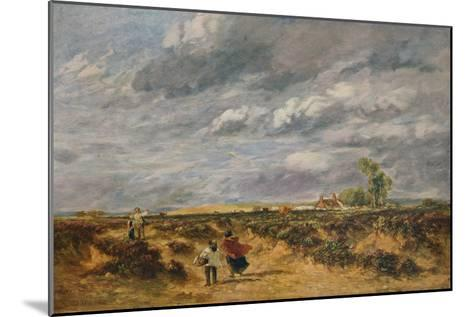 Flying the Kite, A Windy Day, 1851-David Cox the elder-Mounted Giclee Print
