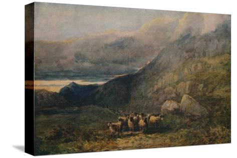 Mountain Road with Sleep, c1838-David Cox the elder-Stretched Canvas Print