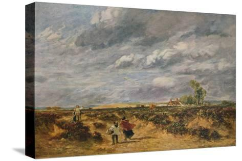Flying the Kite, A Windy Day, 1851-David Cox the elder-Stretched Canvas Print