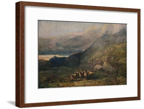 Mountain Road with Sleep, c1838-David Cox the elder-Framed Art Print