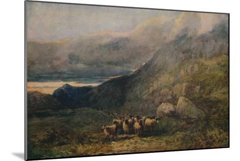Mountain Road with Sleep, c1838-David Cox the elder-Mounted Giclee Print
