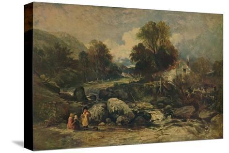 Dol-y-Garrog Mill near Llanrwst, Caernarvonshire, c1844-William James Muller-Stretched Canvas Print