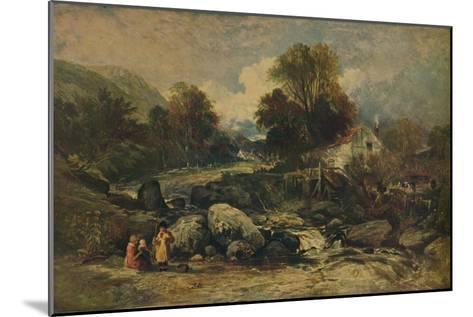Dol-y-Garrog Mill near Llanrwst, Caernarvonshire, c1844-William James Muller-Mounted Giclee Print
