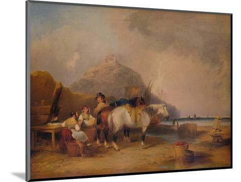 Coast Scene, with Figures and Horses, c1841-William Shayer-Mounted Giclee Print