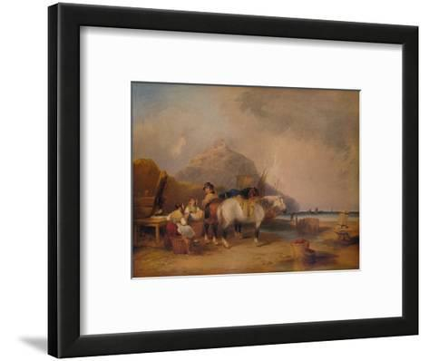 Coast Scene, with Figures and Horses, c1841-William Shayer-Framed Art Print