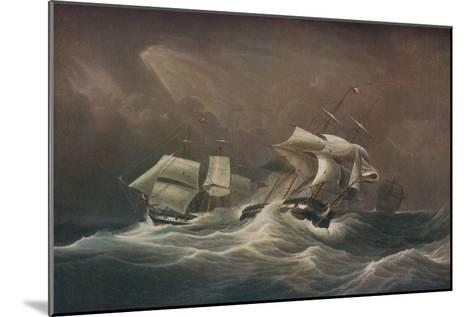 H.M.S. Indefatigable Engaging The French Droits-De-LHomme,1797, 1829-Edward Duncan-Mounted Giclee Print