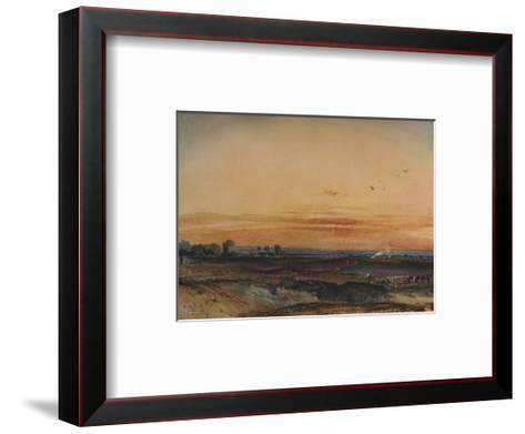 Sunset, 1826-Richard Parkes Bonington-Framed Art Print