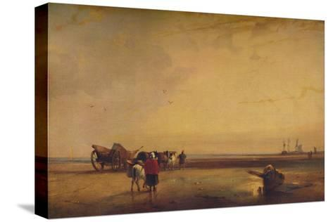 Boulogne Sands, 1827-Richard Parkes Bonington-Stretched Canvas Print