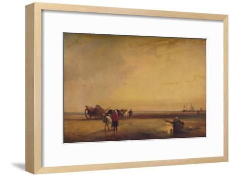 Boulogne Sands, 1827-Richard Parkes Bonington-Framed Art Print