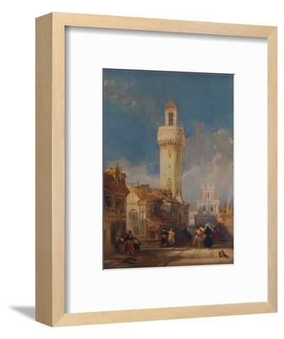 The Tower of the Church of San Nicolás de la Villa, Córdoba, 1834-David Roberts-Framed Art Print