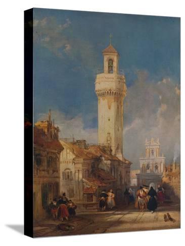 The Tower of the Church of San Nicolás de la Villa, Córdoba, 1834-David Roberts-Stretched Canvas Print