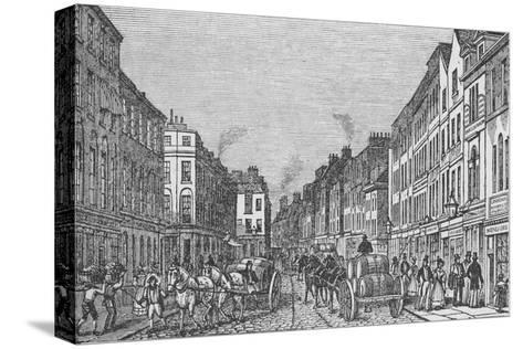 Tooley Street in the First Half of the Nineteenth Century, c1840, (1912)--Stretched Canvas Print