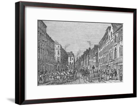 Tooley Street in the First Half of the Nineteenth Century, c1840, (1912)--Framed Art Print