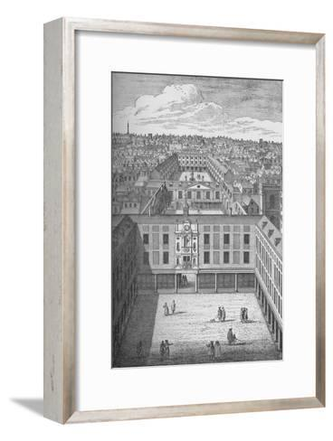 The Old St. Thomass Hospital in Bermondsey, which replaced the earlier monastic buildings in 1701--Framed Art Print