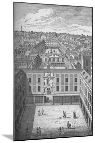 The Old St. Thomass Hospital in Bermondsey, which replaced the earlier monastic buildings in 1701--Mounted Giclee Print