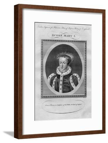 Queen Mary I, 1780s--Framed Art Print