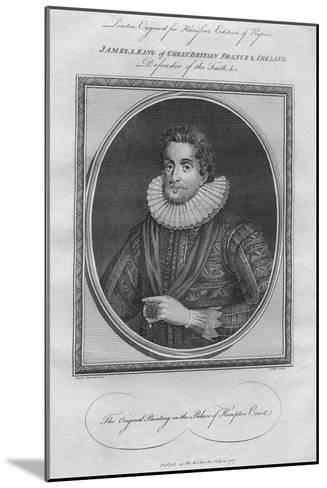 King James I, 1787--Mounted Giclee Print