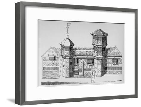 Vaux Hall Manor House, c1813, (1912)--Framed Art Print