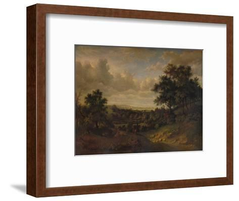 A View of the Thames: Greenwich in the distance, 1820-Patrick Nasmyth-Framed Art Print