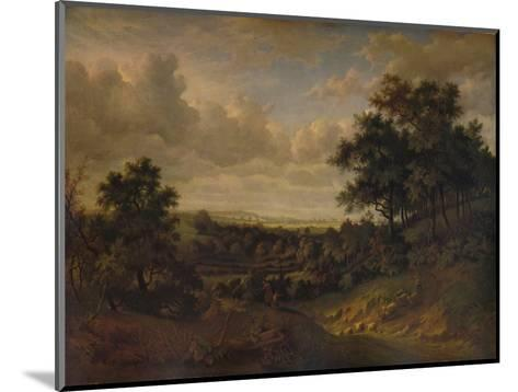 A View of the Thames: Greenwich in the distance, 1820-Patrick Nasmyth-Mounted Giclee Print