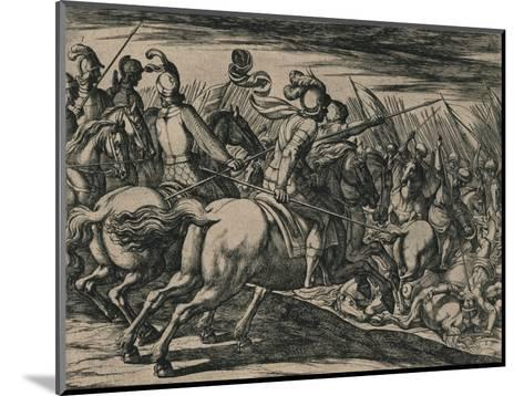 Los 200 cavalleros compañeros de los siete Infantes, cercados de la muchedumbre de los Moros...--Mounted Giclee Print