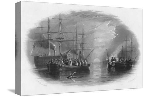 Burial at Sea, c19th century-Edward Paxman Brandard-Stretched Canvas Print