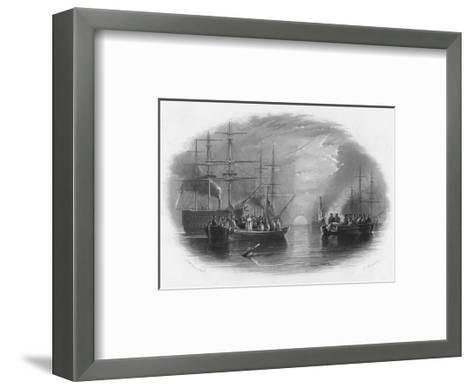 Burial at Sea, c19th century-Edward Paxman Brandard-Framed Art Print