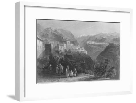 Der-El-Kamar, and the Palaces of Beteddein, 1837-Thomas Abiel Prior-Framed Art Print