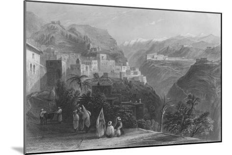 Der-El-Kamar, and the Palaces of Beteddein, 1837-Thomas Abiel Prior-Mounted Giclee Print