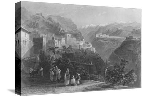 Der-El-Kamar, and the Palaces of Beteddein, 1837-Thomas Abiel Prior-Stretched Canvas Print