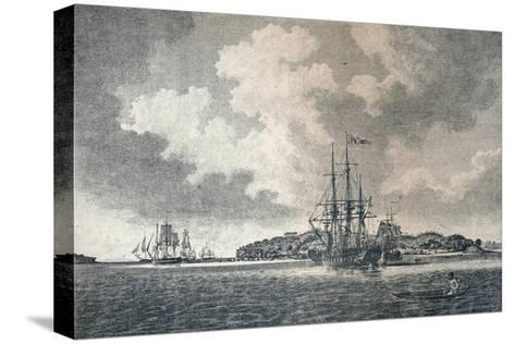 A View of Botany Bay, 1789-Robert Clevely-Stretched Canvas Print