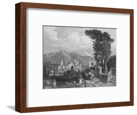 Lake of Como, c1850--Framed Art Print