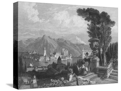 Lake of Como, c1850--Stretched Canvas Print