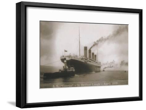 S.S. Titanic - In Belfast Lough - April 1912, 1912--Framed Art Print