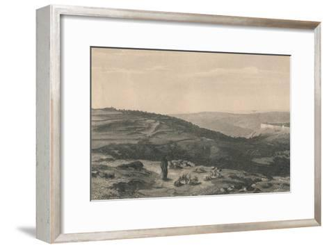 Mount of Olives & Valley of Jehoshaphat, 1871-D Mitchell-Framed Art Print