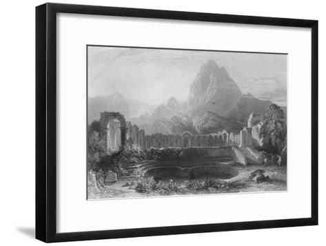 Temple & Fountain at Jagwhan, c19th century-James Redaway-Framed Art Print