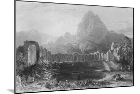 Temple & Fountain at Jagwhan, c19th century-James Redaway-Mounted Giclee Print