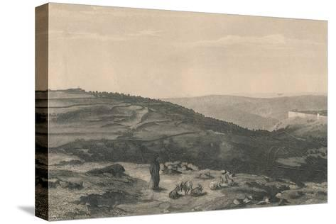 Mount of Olives & Valley of Jehoshaphat, 1871-D Mitchell-Stretched Canvas Print