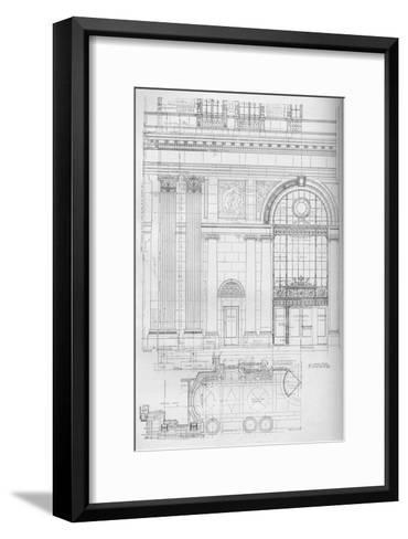 Detail of main entrance, Los Angeles Biltmore Hotel, Los Angeles, California, 1923--Framed Art Print