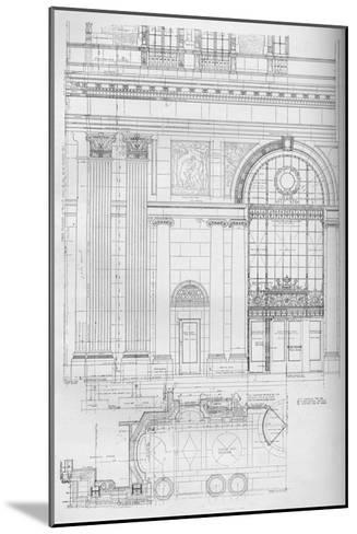 Detail of main entrance, Los Angeles Biltmore Hotel, Los Angeles, California, 1923--Mounted Giclee Print